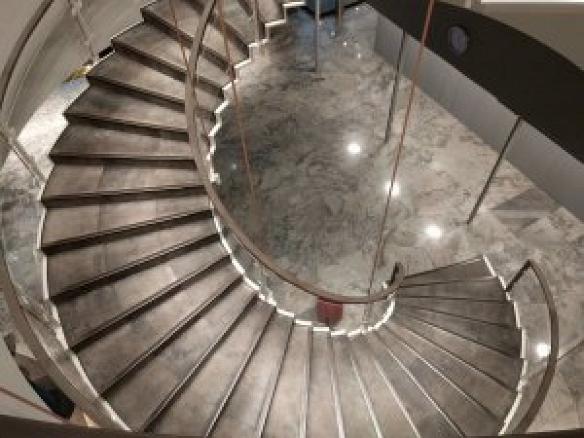 Hotel Royal in Copenhagen, first time I applauded to a staircase. Leather