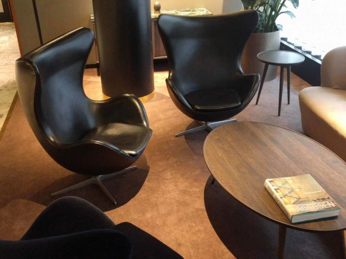 Hotel Royal in Copenhagen, reception and lounge